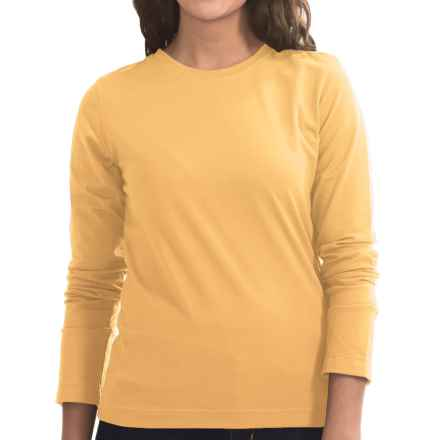 Neon Buddha Stretch Jersey Crew Neck Shirt - Long Sleeve (For Women) in Butter - Closeouts