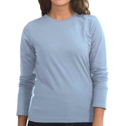 Neon Buddha Stretch Jersey Crew Neck Shirt - Long Sleeve (For Women) in Cloud Blue - Closeouts