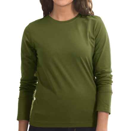 Neon Buddha Stretch Jersey Crew Neck Shirt - Long Sleeve (For Women) in Earthly Green - Closeouts
