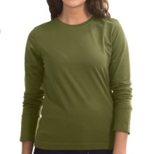 Neon Buddha Stretch Jersey Crew Neck Shirt - Long Sleeve (For Women) in Earthy Green - Closeouts