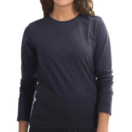 Neon Buddha Stretch Jersey Crew Neck Shirt - Long Sleeve (For Women) in Explorer Navy - Closeouts
