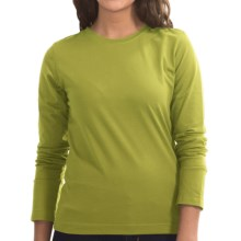Neon Buddha Stretch Jersey Crew Neck Shirt - Long Sleeve (For Women) in Fernie Lime - Closeouts