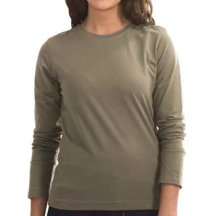 Neon Buddha Stretch Jersey Crew Neck Shirt - Long Sleeve (For Women) in Hollywood Night - Closeouts