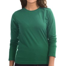 Neon Buddha Stretch Jersey Crew Neck Shirt - Long Sleeve (For Women) in Luxe Emerald - Closeouts