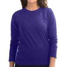 Neon Buddha Stretch Jersey Crew Neck Shirt - Long Sleeve (For Women) in Royal Jewel - Closeouts