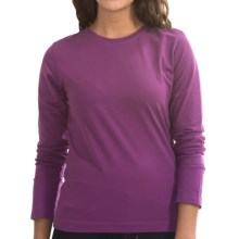 Neon Buddha Stretch Jersey Crew Neck Shirt - Long Sleeve (For Women) in Summer Plum - Closeouts