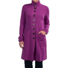 Neon Buddha Stretch Jersey Effortless Car Jacket (For Women) in Exquisite Plum - Closeouts