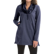 Neon Buddha Stretch Jersey Fanciful Slub Tunic Shirt - Long Sleeve (For Women) in Denim Blue - Closeouts
