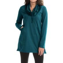Neon Buddha Stretch Jersey Fanciful Slub Tunic Shirt - Long Sleeve (For Women) in Teal - Closeouts