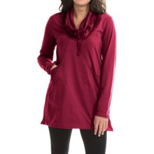 Neon Buddha Stretch Jersey Fanciful Slub Tunic Shirt - Long Sleeve (For Women) in Wine - Closeouts