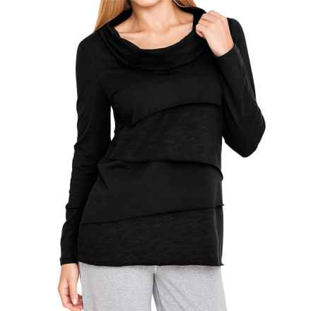 Neon Buddha Stretch Jersey Travel Cowl Shirt - Long Sleeve (For Women) in Black - Closeouts