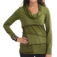 Neon Buddha Stretch Jersey Travel Cowl Shirt - Long Sleeve (For Women) in Earthy Green - Closeouts