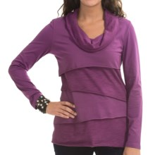 Neon Buddha Stretch Jersey Travel Cowl Shirt - Long Sleeve (For Women) in Summer Plum - Closeouts