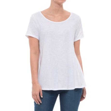 Neon Buddha Sunset Shirt - Crew Neck, Short Sleeve (For Women) in White