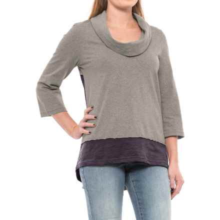 Neon Buddha Surf Tunic Shirt - Elbow Sleeve (For Women) in Dark Grey - Closeouts