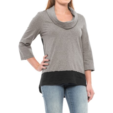 Neon Buddha Surf Tunic Shirt - Elbow Sleeve (For Women) in Gypsy Slate