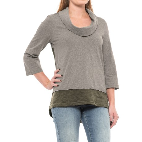 Neon Buddha Surf Tunic Shirt - Elbow Sleeve (For Women) in Moss