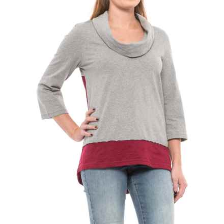 Neon Buddha Surf Tunic Shirt - Elbow Sleeve (For Women) in Wine - Closeouts