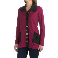 Neon Buddha Sweet Tie Jacket - Stretch Cotton (For Women) in Bordeaux Wine - Closeouts