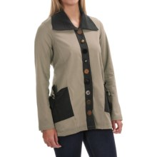 Neon Buddha Sweet Tie Jacket - Stretch Cotton (For Women) in Dusty Pebble - Closeouts