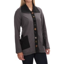 Neon Buddha Sweet Tie Jacket - Stretch Cotton (For Women) in Gypsy Slate - Closeouts