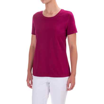 Neon Buddha T-Shirt - Cotton, Short Sleeve (For Women) in Bordeaux Wine - Closeouts