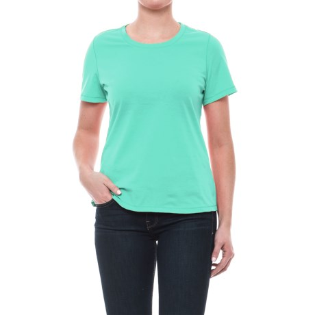 Neon Buddha T-Shirt - Cotton, Short Sleeve (For Women) in Clean Turquoise
