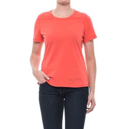 Neon Buddha T-Shirt - Cotton, Short Sleeve (For Women) in Cultural Coral - Closeouts