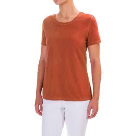 Neon Buddha T-Shirt - Cotton, Short Sleeve (For Women) in Eco Orange - Closeouts