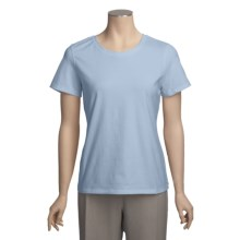 Neon Buddha T-Shirt - Cotton, Short Sleeve (For Women) in Sky Blue - Closeouts