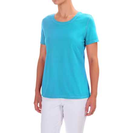 Neon Buddha T-Shirt - Cotton, Short Sleeve (For Women) in Turquoise Water - Closeouts