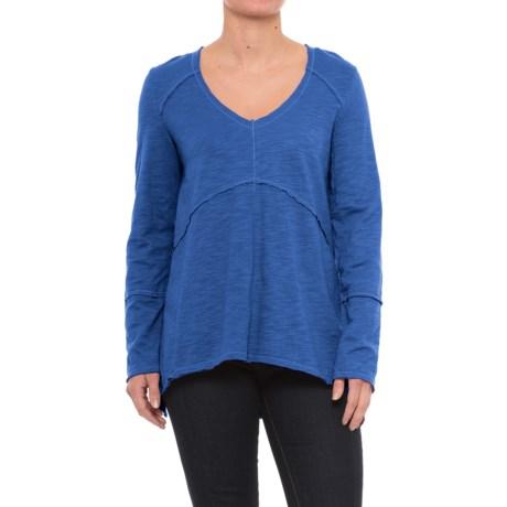 Neon Buddha Tambourine Shirt - Long Sleeve (For Women) in Adventure Blue