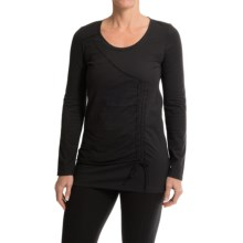 Neon Buddha Thyme Tunic Shirt - Scoop Neck, Long Sleeve (For Women) in Market Black - Closeouts