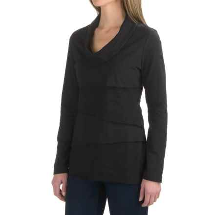 Neon Buddha Travel Tiered Shirt - Cowl Neck (For Women) in Black - Closeouts
