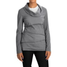 Neon Buddha Travel Tiered Shirt - Cowl Neck (For Women) in Smoke Grey - Closeouts