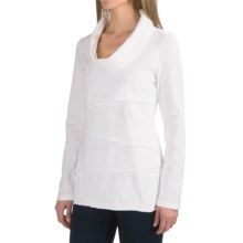 Neon Buddha Travel Tiered Shirt - Cowl Neck (For Women) in White - Closeouts
