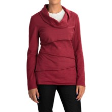 Neon Buddha Travel Tiered Shirt - Cowl Neck (For Women) in Wine - Closeouts