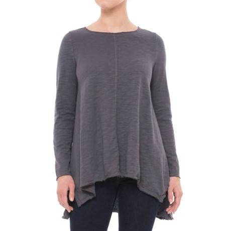 Neon Buddha Travel Tunic Shirt - Long Sleeve (For Women) in Dark Grey