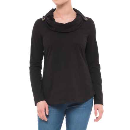 Neon Buddha Trend Cowl Neck Shirt - Long Sleeve (For Women) in Black - Closeouts