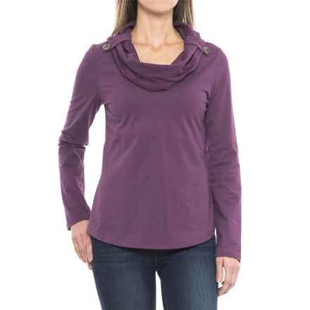 Neon Buddha Trend Cowl Neck Shirt - Long Sleeve (For Women) in Summer Plum - Closeouts