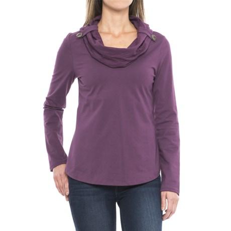 Neon Buddha Trend Cowl Neck Shirt - Long Sleeve (For Women) in Summer Plum