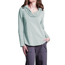 Neon Buddha Trend Shirt - Cowl Neck, Long Sleeve (For Women) in Empire Ice - Closeouts