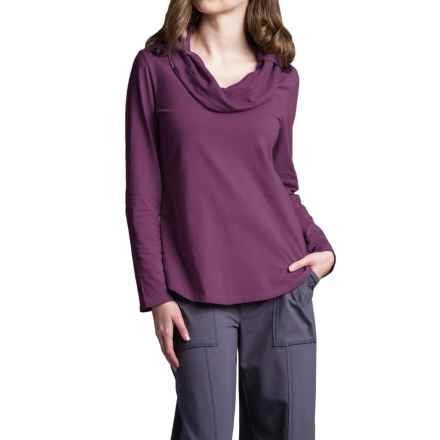Neon Buddha Trend Shirt - Cowl Neck, Long Sleeve (For Women) in Summer Plum - Closeouts