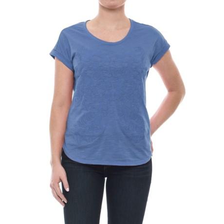 Neon Buddha Tropical Shirt - Short Sleeve (For Women) in Blue