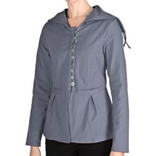 Neon Buddha Tuesday Afternoon Swing Jacket - Hooded (For Women) in 272 Smoke Blue - Closeouts