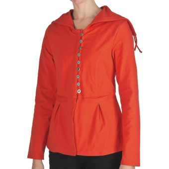 Neon Buddha Tuesday Afternoon Swing Jacket - Hooded (For Women) in 977 Bold Red