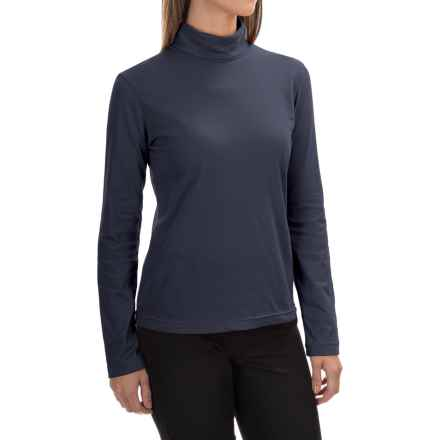 Neon Buddha Turtleneck - Stretch Cotton, Long Sleeve (For Women) in Dark Blue - Closeouts