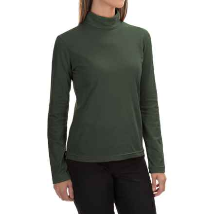 Neon Buddha Turtleneck - Stretch Cotton, Long Sleeve (For Women) in Deep Green - Closeouts