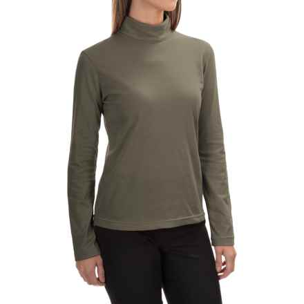 Neon Buddha Turtleneck - Stretch Cotton, Long Sleeve (For Women) in Granite - Closeouts