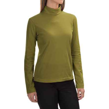 Neon Buddha Turtleneck - Stretch Cotton, Long Sleeve (For Women) in Rich Moss - Closeouts